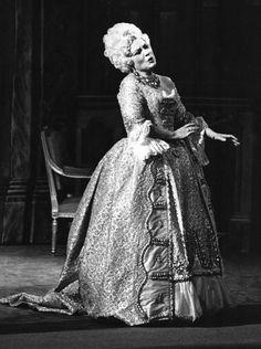 Romanian Soprano Virginia Zeani in Costume as Manon Lescaut.