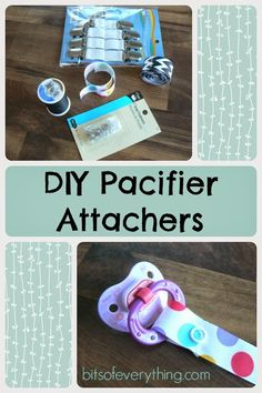 Make Your Own Pacifier Attachers #DIY #pacifier #tutorial blog.bitsofeverything.com