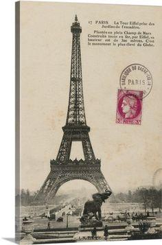 Premium Thick-Wrap Canvas Wall Art Print entitled Paris 1900, None
