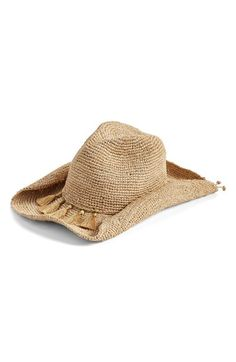 b01d9b9cb5c Flora Bella Crochet Raffia Cowboy Hat available at  Nordstrom Western Hats