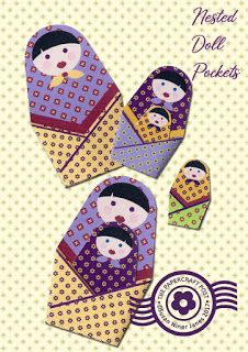 Nested Doll Pockets with template tutorial http://thepapercraftpost.blogspot.co.uk/2017/11/nested-doll-pockets.html