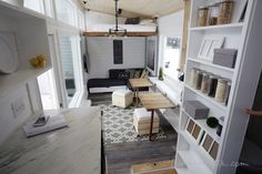 A most phenomenal moving parts tiny home by Anna White. Love so many features, most of them move and do multiple duties.