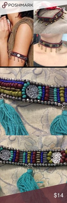 Nwt Free a People choker or armband Nwt Free People beaded choker or armband sold out Free People Jewelry Necklaces