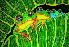 3 little frogs