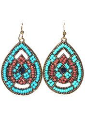 Bright Blue Beaded Earrings