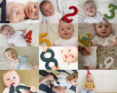 Snakes, Snails, & Puppy Dog Tails: Baby Beck turned one!  photo journal by month! so cute great idea