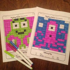 These monsters are so cute! Students solve the multiplication or division equation in each box. Then, they color according to the coloring key. This is a FUN way to build math fluency!