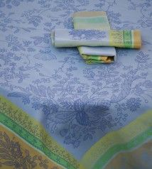 Blue Tablecloth Cotignac, product available in the online shop doctordeco . Blue Tablecloth, Table Decorations, Tableware, Shop, Products, Dinnerware, Tablewares, Dishes, Place Settings