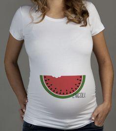 Camiseta Engoli uma Melancia - Agora sou mãe camisetas para grávidas
