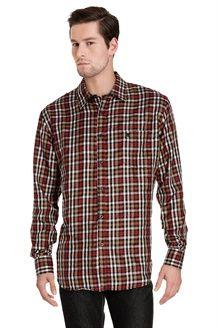 Camisa<BR>Preto e vermelho