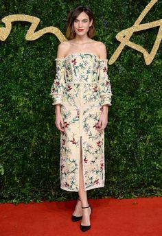 Alexa Chung aux British Fashion Awards 2015