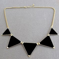 Cheap triangle necklace, Buy Quality maxi necklace directly from China necklace chunky Suppliers: BUTEELUVV Hot Kolovrat Women Statement Golden Maxi Necklaces Chunky Triangles Necklaces & Pendants Choker Collier Femme Jewelry Colar Fashion, Fashion Necklace, Fashion Jewelry, Women Jewelry, Fashion Fashion, Fashion Women, Fashion Black, Fashion Design, Trendy Necklaces