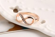 FREE RING!!! - Fashion Alloy Crystal Ring Gold Color -  Infinity Statement  Ring - FREE RING