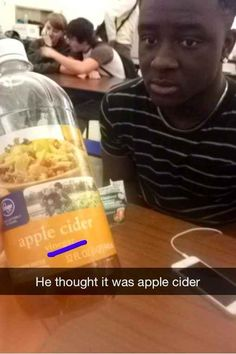 This man and his delicious drink.