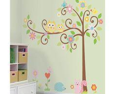 smoozy scroll tree wall sticker