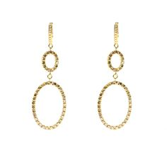 Earrings made of gold with white and brown diamonds Brown Diamonds, Drop Earrings, Gold, Jewelry, Jewlery, Jewerly, Schmuck, Drop Earring, Jewels