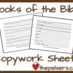 free books of the bible copywork in manuscript and cursive