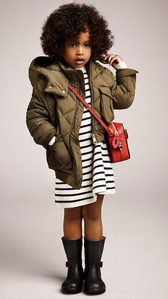 Diamond Quilt Puffer Jacket | Burberry #kids.  Some people say, whatever happened to Osh Kosh?  We say get couture and Osh Kosh at www.meetswapshop.com