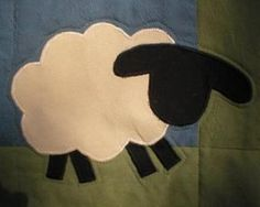 sheep applique quilt block