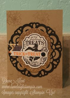 Stampin' Up! Doily Halloween Card