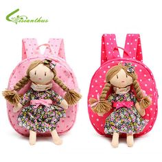 Children Backpack Kids Schoolbags Kindergarten Girls Little Bags Baby Satchel With Pretty Braids Girl Doll Free Drop ShippingFind More Plush Backpacks Information about New Adorable Cartoon Backpack… Birthday Gifts For Kids, Christmas Gifts For Kids, School Bags For Kids, Kids Bags, Baby Girl Bags, Girl Dolls, Baby Dolls, Doll Carrier, Kids Backpacks
