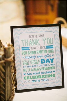 Thank you free printable wedding sign from the Wedding Chicks @weddingchicks