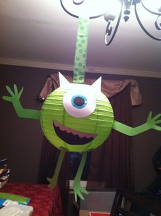 Not monsters inc. but I like the idea of making monsters out of lanterns. Not monsters inc. but I like the idea of making monsters out of lanterns. Monster University Birthday, Monster 1st Birthdays, Monster Birthday Parties, 3rd Birthday Parties, Birthday Fun, First Birthdays, Birthday Ideas, Monster Party, Monsters Inc Decorations