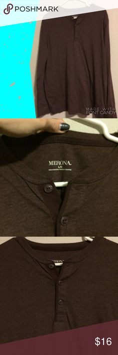Men's Merona Long Sleeve Men's brown / dark burgundy Merona long sleeve in perfect condition and new without tag. Size large Merona Shirts Tees - Long Sleeve