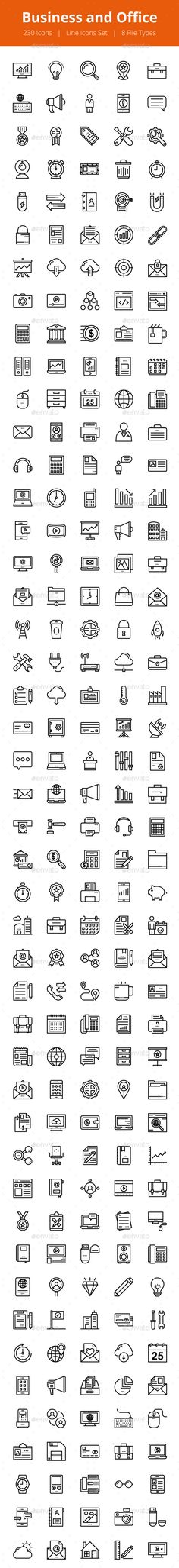 230 Business and Office Line Icons