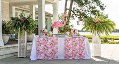 Tropical Bridal Shower Buffet