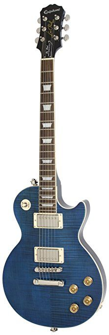 "Epiphone Les Paul ""TRIBUTE"" Plus Outfit with Gibson Classic Pickups Includes Case, Midnight Sapphire Blue Les Paul Guitars, Fender Guitars, Music Guitar, Cool Guitar, Epiphone Les Paul, Electric Guitars, Blue Sapphire, Lp, Bass"