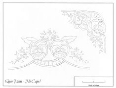 Vintage Embroidery Monday – Pansy Runner and Corner - Super Mom - No Cape!