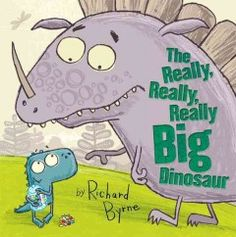 Finlay (a little dinosaur) is sitting on a grassy mound, counting jelly beans to share with his friend. A big dinosaur comes along and demands the sweets. He is rather rude, a bit of a show-off, and doesn't believe Finlay even has a friend. Well, he's in for a really, really, really big surprise!  -Crystal