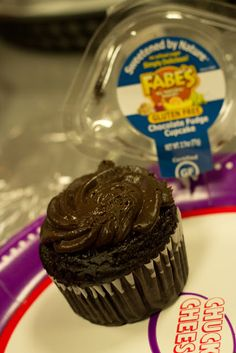 Chuck E. new gluten-free chocolate cupcake is the best!