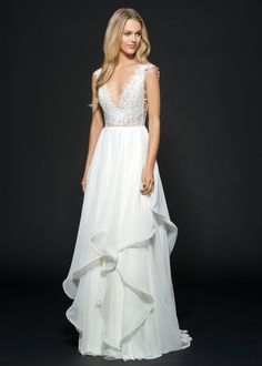 """Hayley Paige Fall 2016 """"Leigh"""" bridal gown   Bridal Fashion   Bridal Gown available at Now & Forever Bridal Boutique"""