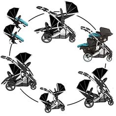 Ingrid Holm Stokke Crusi stroller with newborn baby Carry