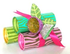 This is a great kids craft: tube yule logs!