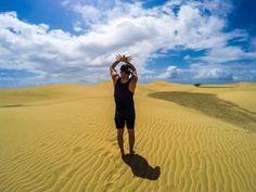 Albanian couple Parasailing, Canario, Dune, Puerto Rico, Couple, Photo And Video, Park, Beach, Travel