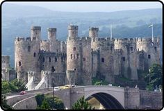 Conwy Castle, Wales, was built by Edward I in the 13th century.