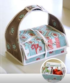 Sew A Bento Box {Free Pattern}  Would be a cute gift for the girls - to put things in.  They love containers - especially pretty ones!