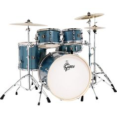 Gretsch Drums Energy Drum Set Blue Sparkle with Hardware and Zildjian Cymbals