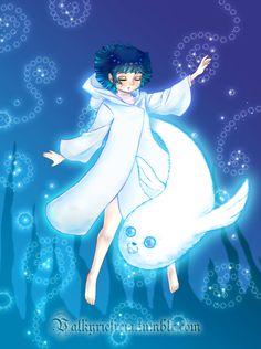 "valkyriefreia: ""Song of the Sea AU fanart where Himawari is a selkie "" Naruto Family, Boruto Naruto Next Generations, Naruto Girls, Naruto Art, Anime Naruto, Himawari Boruto, Naruto Uzumaki Shippuden, Hinata Hyuga, Naruhina"