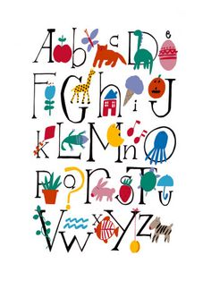Cute alphabet with illustrations poster art for kids Poster Art, Kunst Poster, Poster Prints, Abc Poster, Cute Alphabet, Alphabet Charts, Alphabet Posters, Alphabet Wall, Ecole Art