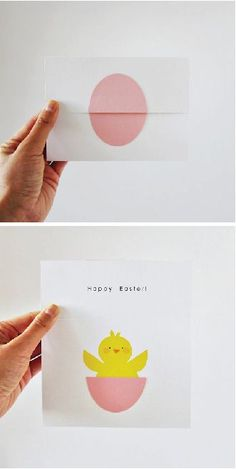 Surprise Egg With Chick Happy Easter / Happy Spring card! By atiliay - Surprise Egg With Chick Happy Easter / Happy Spring card! Easter Art, Hoppy Easter, Easter Crafts, Holiday Crafts, Easter Eggs, Crafts For Kids, Easter Chick, Easter Decor, Easter Ideas