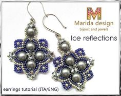 Tutorial Ice reflections earrings