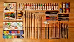 Art equipment - colourful and organised!