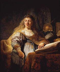 Minerva - Rembrandt  - Completion Date: 1635