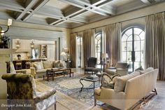 Segreto: Secrets to Finishing Beautiful Interiors -- nice coffered ceiling and great steel doors.