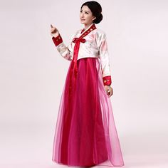 2017 Woman Traditional Korean Hanbok Ethnic Clothing