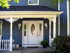 Durabrac Architectural components are manufactured from virgin cellular vinyl with U/V inhibitors. The Bienville vinyl porch bracket is from the French Quarter Collection. Porch Brackets, Home Repairs, Garage Doors, Home And Garden, Exterior, Porch Ideas, Architecture, Outdoor Decor, Gingerbread
